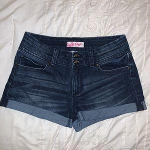 Candies Dark Wash Jean Shorts Size 5